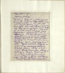 Listy Stanisława Ignacego Witkiewicza do żony Jadwigi z Unrugów Witkiewiczowej. List z 26.11.1924