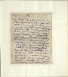 Listy Stanisława Ignacego Witkiewicza do żony Jadwigi z Unrugów Witkiewiczowej. List z 28.11.1924