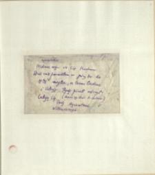 Listy Stanisława Ignacego Witkiewicza do żony Jadwigi z Unrugów Witkiewiczowej. List z 09.04.1925