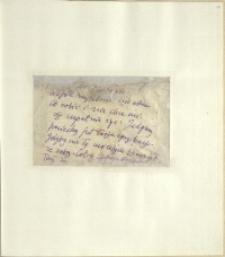 Listy Stanisława Ignacego Witkiewicza do żony Jadwigi z Unrugów Witkiewiczowej. List [b.d.]