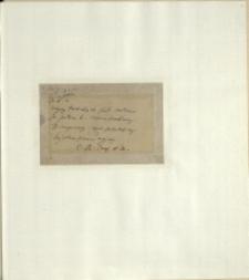 Listy Stanisława Ignacego Witkiewicza do żony Jadwigi z Unrugów Witkiewiczowej. Kartka pocztowa z 26.02.1925