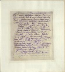 Listy Stanisława Ignacego Witkiewicza do żony Jadwigi z Unrugów Witkiewiczowej. List z kwietnia 1925