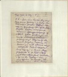 Listy Stanisława Ignacego Witkiewicza do żony Jadwigi z Unrugów Witkiewiczowej. List z 11.04.1925