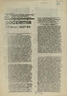 """Z Podziemia : pismo Regionalnego Komitetu Związkowego NSZZ """"Solidarność"""" Region Pomorze Zachodnie. 1983 nr 11"""