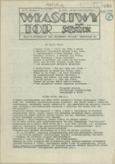 """Właściwy Tor : biuletyn informacyjny NSZZ """"Solidarność"""" Kolejarzy Pomorskiego OKP. 1981 nr 12"""