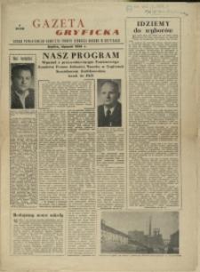 Gazeta Gryficka : Organ Powiatowego Komitetu Frontu Jedności Narodu w Gryficach : styczeń 1958 r.