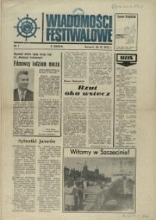 Wiadomości Festiwalowe. 1972 nr 1