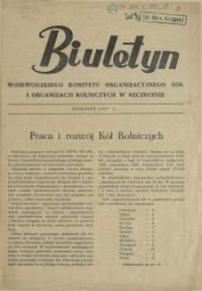 Biuletyn Wojewódzkiego Komitetu Organizacyjnego Kół i Organizacji Rolniczych w Szczecinie. 1957, sierpień
