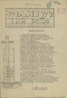 """Właściwy Tor : biuletyn informacyjny NSZZ """"Solidarność"""" Kolejarzy Pomorskiego OKP. 1989 nr 43"""