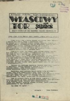 """Właściwy Tor : biuletyn informacyjny NSZZ """"Solidarność"""" Kolejarzy Pomorskiego OKP. 1989 nr 49"""