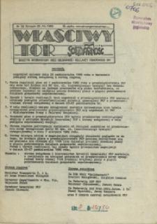 """Właściwy Tor : biuletyn informacyjny NSZZ """"Solidarność"""" Kolejarzy Pomorskiego OKP. 1989 nr 52"""