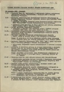Program obchodów pierwszej rocznicy strajku sierpniowego 1980
