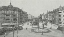 Stettin, Kaiser Wilhelm-Denkmal und Kaiser Wilhelm-Strasse