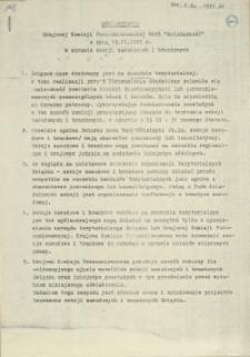 """Oświadczenie Krajowej Komisji Porozumiewawczej NSZZ """"Solidarność"""" z dnia 19.11.1980 roku w sprawie sekcji zawodowych i branżowych"""