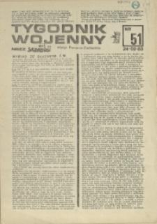 Tygodnik Wojenny : edycja Pomorze Zachodnie.1983 nr 51