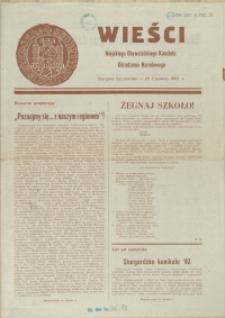 Wieści Miejskiego Obywtelskiego Komitetu Odrodzenia Narodowego. 1982, 29 czerwca