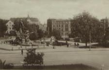 Stettin, Manzelbrunnen und altes Postamt