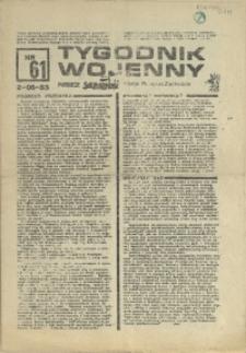 Tygodnik Wojenny : edycja Pomorze Zachodnie.1983 nr 61
