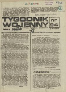 Tygodnik Wojenny : edycja Pomorze Zachodnie. 1984 nr 94