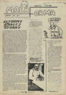 Mała Forma : Organ XVI STT. 1981, 11 kwietnia