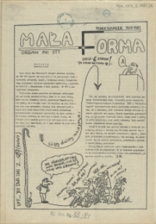 Mała Forma : Organ XVI STT. 1981, 13 kwietnia