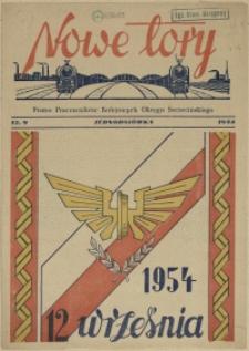 Nowe Tory : pismo pracowników DOKP w Szczecinie. R.1, 1954 Jednodniówka z dn. 12 września