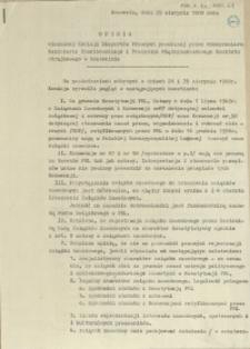 Opinia mieszanej Komisji Ekspertów Prawnych powołanej przez wicepremiera Kazimierza Barcikowskiego i Prezydium Międzyzakładowego Komitetu Strajkowego w Szczecinie