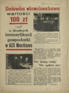 Dniówka obrachunkowa wartości 100 zł czyli o skutkach intensyfikacji gospodarki w RZS Mostkowo. 1956