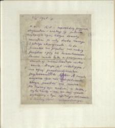 Listy Stanisława Ignacego Witkiewicza do żony Jadwigi z Unrugów Witkiewiczowej. List z 04.06.1925