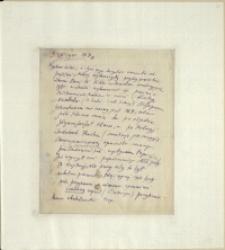 Listy Stanisława Ignacego Witkiewicza do żony Jadwigi z Unrugów Witkiewiczowej. List z 09.08.1925