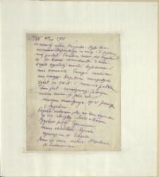 Listy Stanisława Ignacego Witkiewicza do żony Jadwigi z Unrugów Witkiewiczowej. List z 11.08.1925