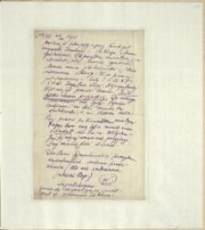 Listy Stanisława Ignacego Witkiewicza do żony Jadwigi z Unrugów Witkiewiczowej. List z 13.08.1925