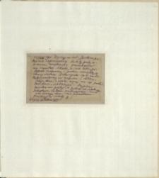 Listy Stanisława Ignacego Witkiewicza do żony Jadwigi z Unrugów Witkiewiczowej. Kartka pocztowa z 25.08.1925