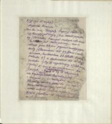 Listy Stanisława Ignacego Witkiewicza do żony Jadwigi z Unrugów Witkiewiczowej. List z 05.11.1925