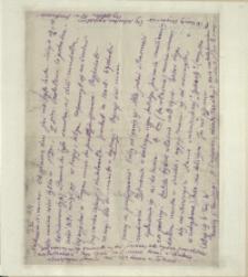 Listy Stanisława Ignacego Witkiewicza do żony Jadwigi z Unrugów Witkiewiczowej. List z 11.11.1925