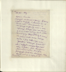 Listy Stanisława Ignacego Witkiewicza do żony Jadwigi z Unrugów Witkiewiczowej. List z 15.11.1925