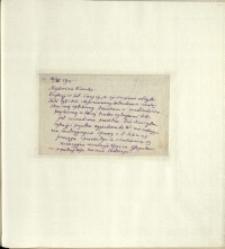 Listy Stanisława Ignacego Witkiewicza do żony Jadwigi z Unrugów Witkiewiczowej. List z 16.11.1925