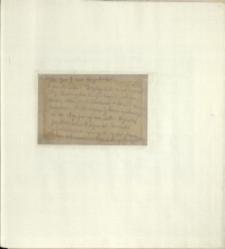 Listy Stanisława Ignacego Witkiewicza do żony Jadwigi z Unrugów Witkiewiczowej. Kartka pocztowa z 20.11.1925