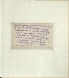 Listy Stanisława Ignacego Witkiewicza do żony Jadwigi z Unrugów Witkiewiczowej. List z 09.11.1925