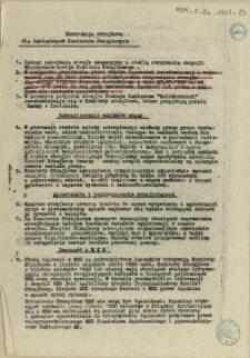 Instrukcja strajkowa dla Zakładowych Komitetów Strajkowych