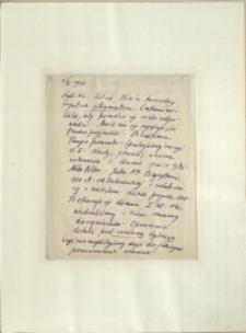 Listy Stanisława Ignacego Witkiewicza do żony Jadwigi z Unrugów Witkiewiczowej. List z 03.01.1926