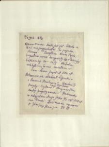 Listy Stanisława Ignacego Witkiewicza do żony Jadwigi z Unrugów Witkiewiczowej. List z 07.01.1926