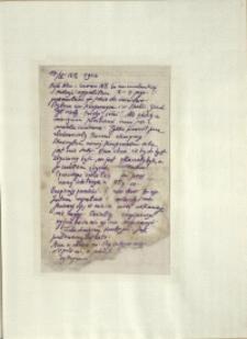 Listy Stanisława Ignacego Witkiewicza do żony Jadwigi z Unrugów Witkiewiczowej. List z 17.04.1926
