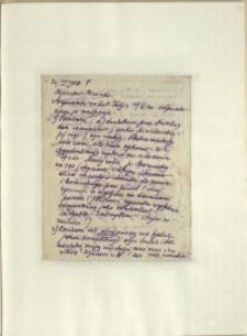 Listy Stanisława Ignacego Witkiewicza do żony Jadwigi z Unrugów Witkiewiczowej. List z 26.04.1926