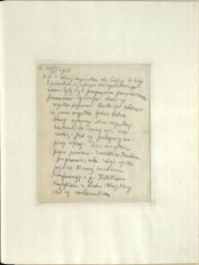Listy Stanisława Ignacego Witkiewicza do żony Jadwigi z Unrugów Witkiewiczowej. List z 17.07.1926