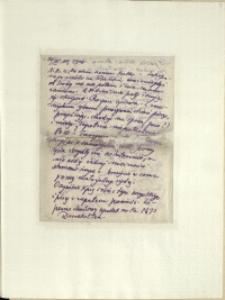Listy Stanisława Ignacego Witkiewicza do żony Jadwigi z Unrugów Witkiewiczowej. List z 20.07.1926
