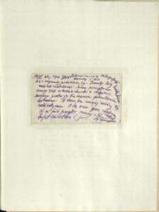 Listy Stanisława Ignacego Witkiewicza do żony Jadwigi z Unrugów Witkiewiczowej. List z 23.07.1926