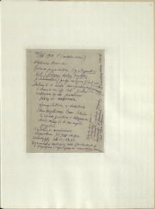 Listy Stanisława Ignacego Witkiewicza do żony Jadwigi z Unrugów Witkiewiczowej. List z 17.08.1926