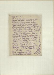Listy Stanisława Ignacego Witkiewicza do żony Jadwigi z Unrugów Witkiewiczowej. List z 23.11.1926