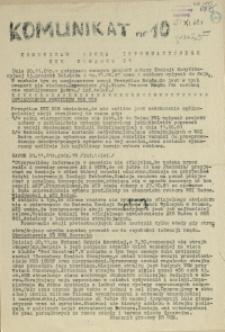 Komunikat Ośrodka Informacji NZS Szczecin. 1981 nr 10